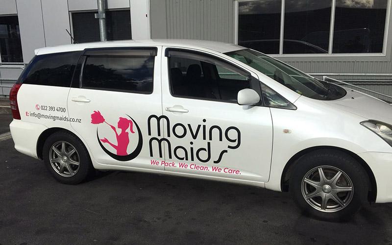 Moving Maids Van